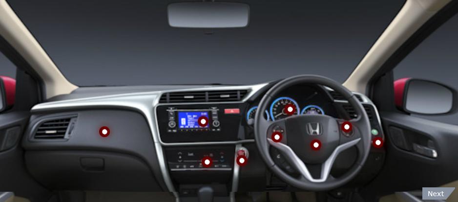 honda all new city car interior features solitaire honda. Black Bedroom Furniture Sets. Home Design Ideas